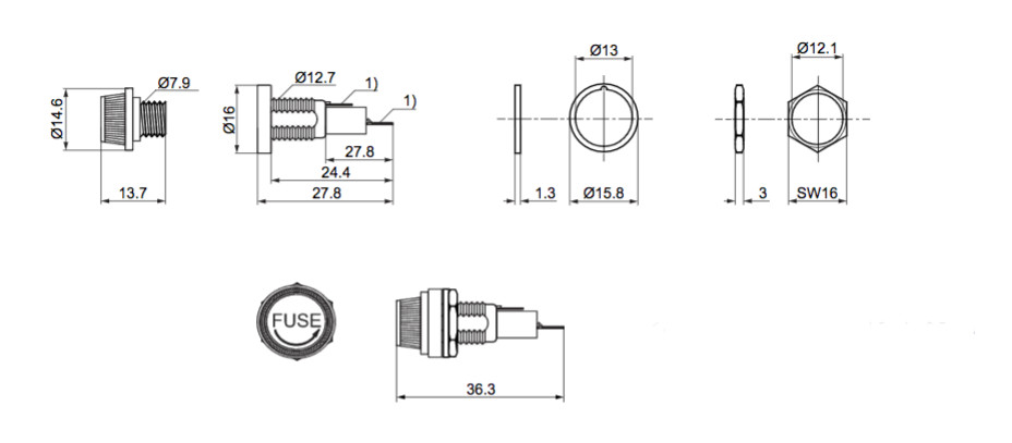 5x sicherungshalter glassicherung 5 x 20 mm schraubverschlu verdrehschutz 12287 ebay. Black Bedroom Furniture Sets. Home Design Ideas