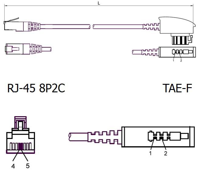 richtiges TAE-F Kabel für Speedport W724V