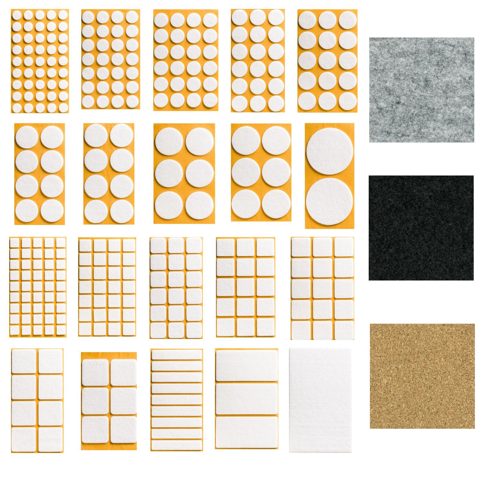 filzgleiter wei schwarz grau kork selbstklebend klebe filz m belgleiter 12627 ebay. Black Bedroom Furniture Sets. Home Design Ideas