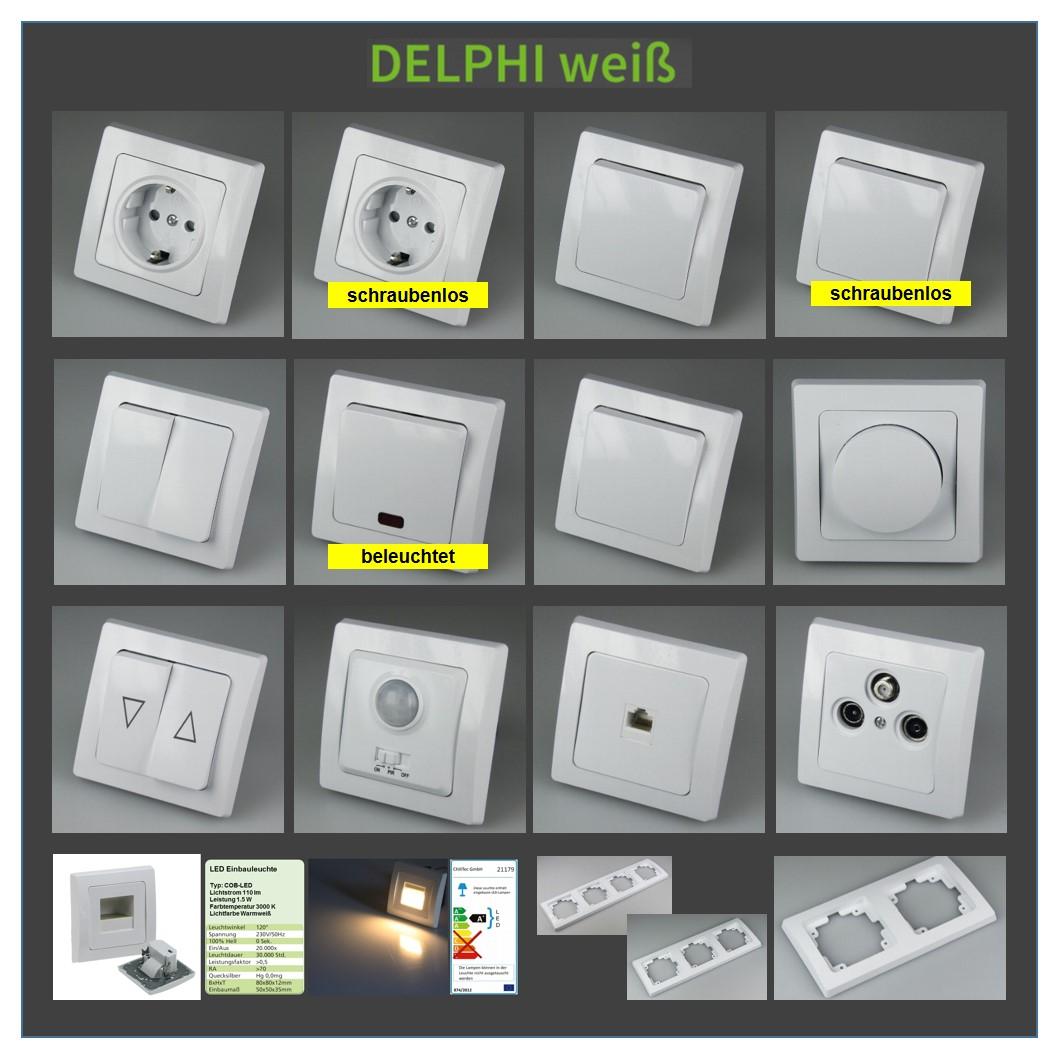 delphi serie schalter steckdose taster bewegungsmelder. Black Bedroom Furniture Sets. Home Design Ideas